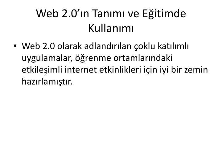 Web 2 0 n tan m ve e itimde kullan m1