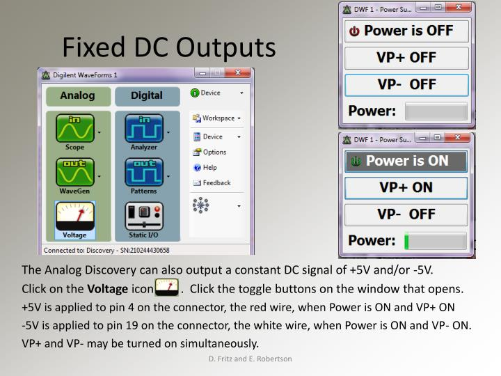 Fixed DC Outputs