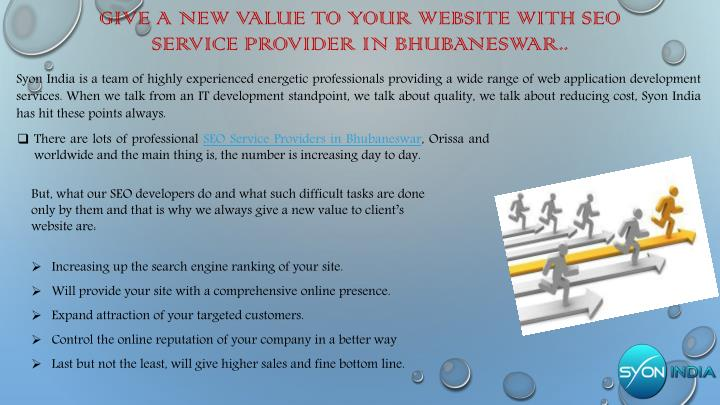 GIVE A NEW VALUE TO YOUR WEBSITE WITH SEO SERVICE PROVIDER IN BHUBANESWAR..