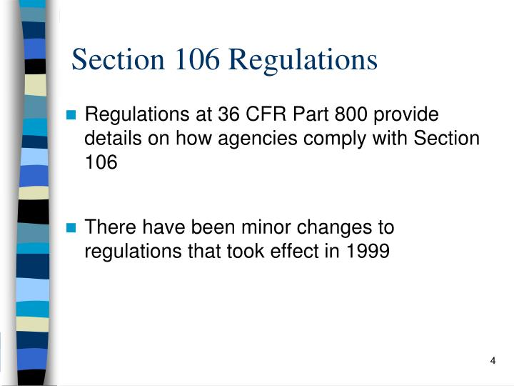Section 106 Regulations