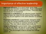 importance of effective leadership