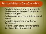 responsibilities of data controllers