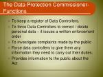 the data protection commissioner functions