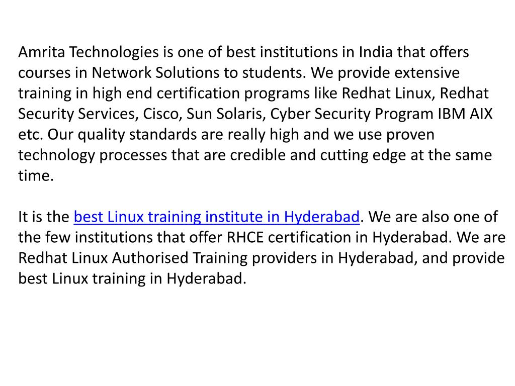 PPT - Red Hat Linux Training Hyderabad PowerPoint