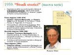 1959 studi storici nuova serie