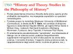 1960 history and theory studies in the philosophy of history