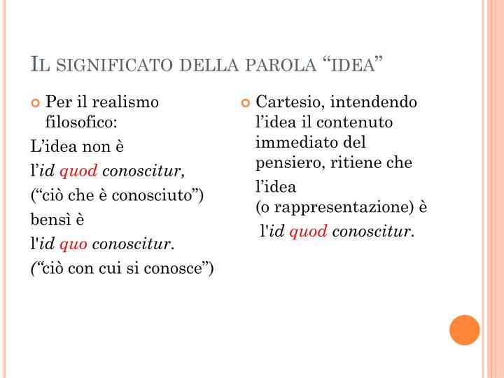 """Il significato della parola """"idea"""""""