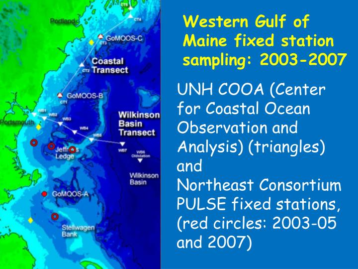 Western Gulf of Maine fixed station sampling: 2003-2007
