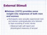 external stimuli