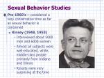 sexual behavior studies