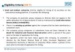 eligibility criteria 106 y