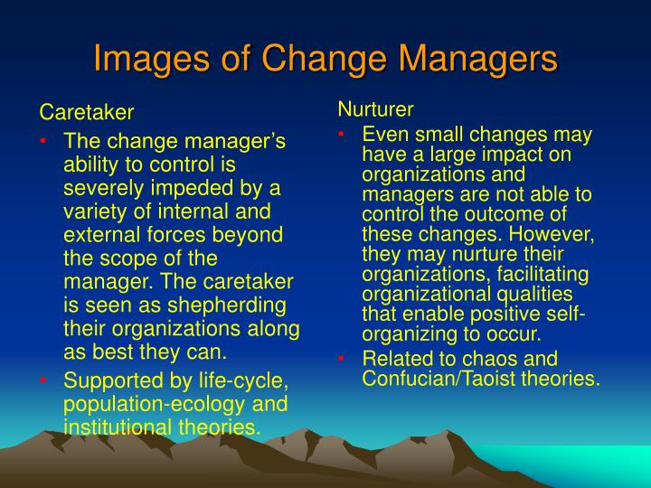 change manager as caretaker