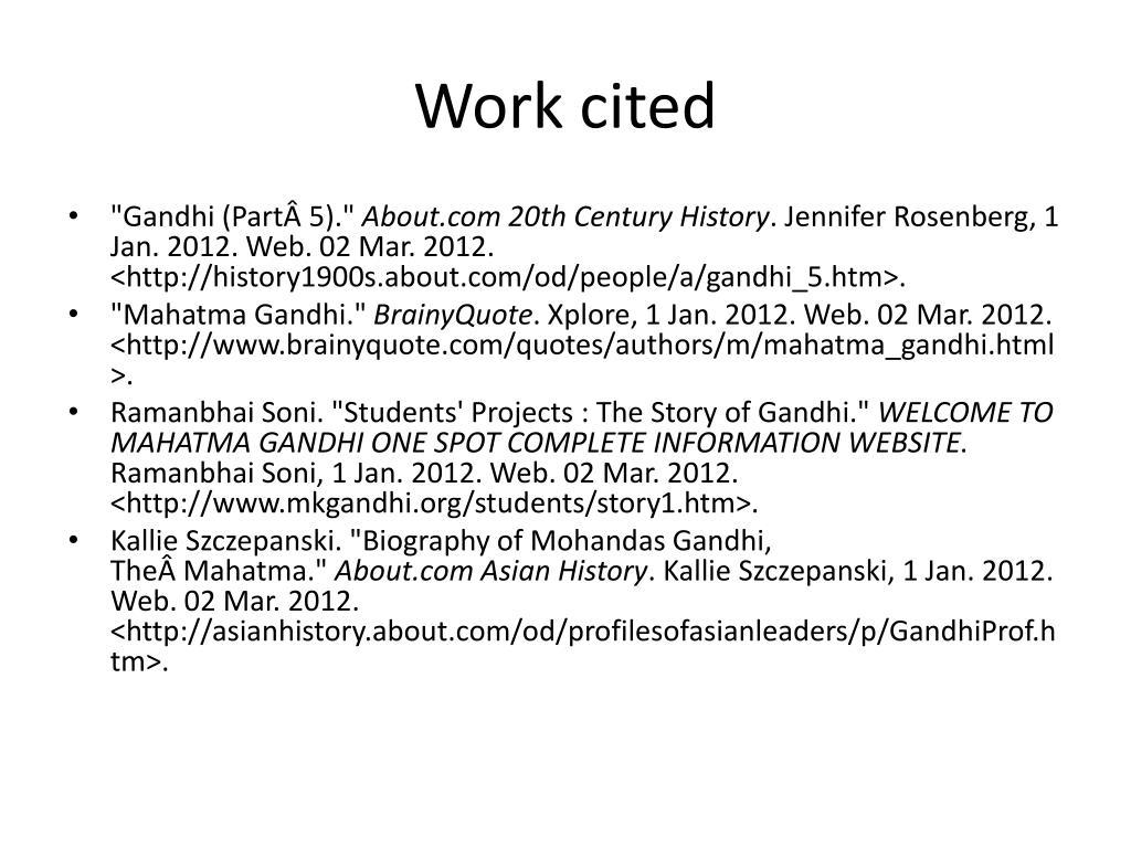 PPT Mohandas Karamchand Gandhi PowerPoint Presentation