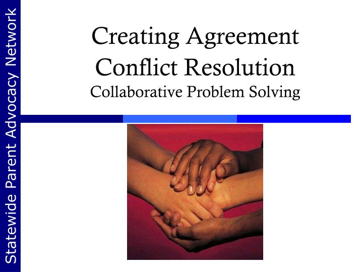 creating agreement conflict resolution collaborative problem solving n.