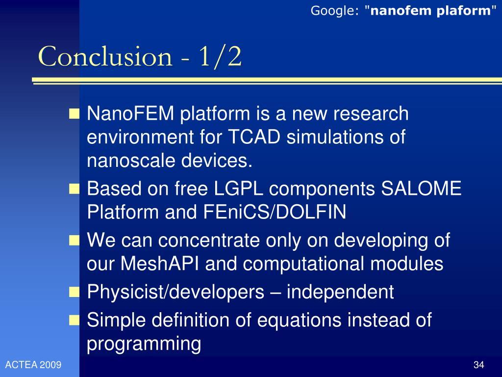 PPT - A Software Platform for Nanoscale Device Simulation and