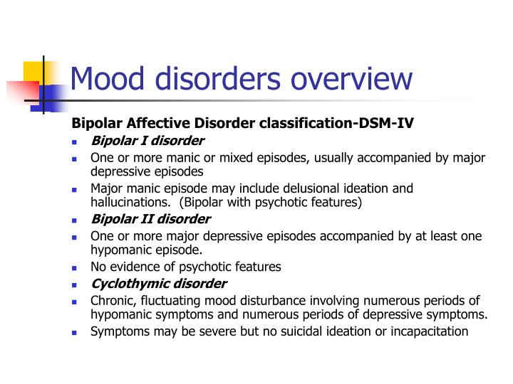 what is an affective mood disorder