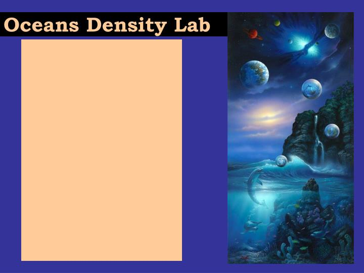 Oceans Density Lab