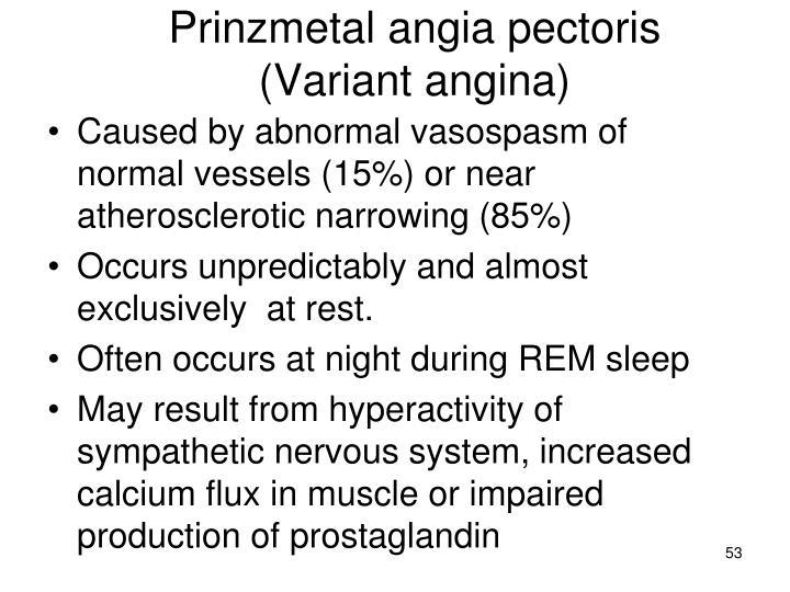 Prinzmetal angia pectoris