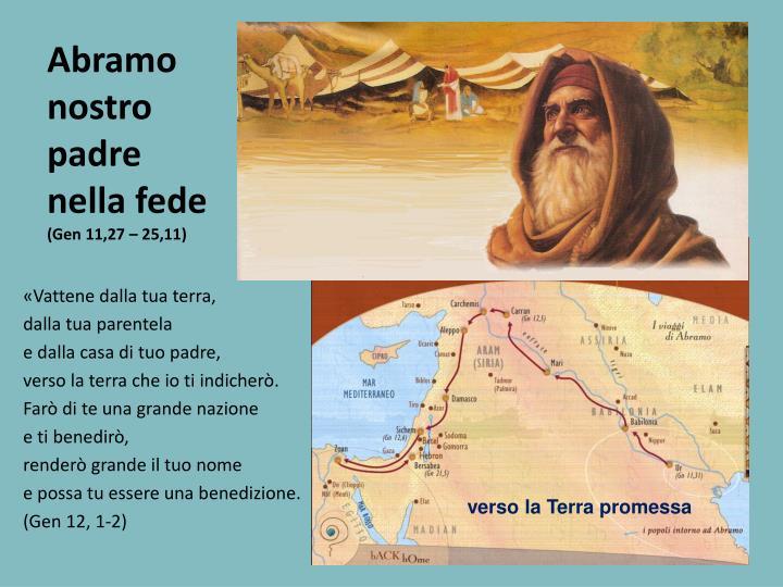 Abramo nostro padre nella fede