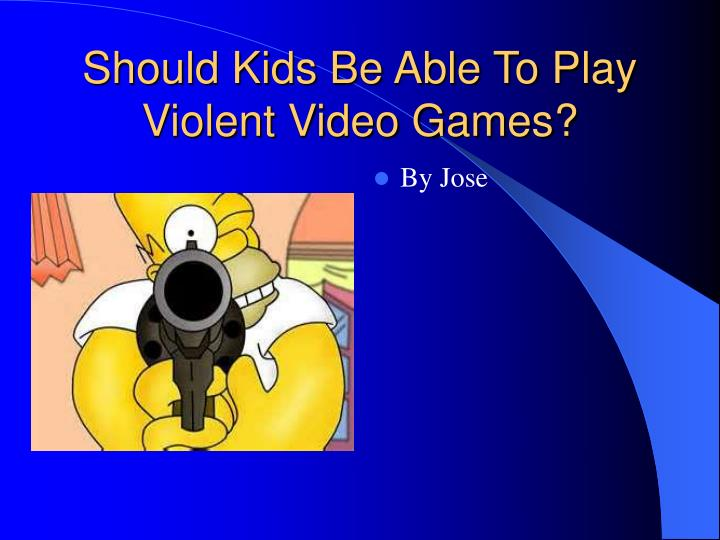 violent video games should not be
