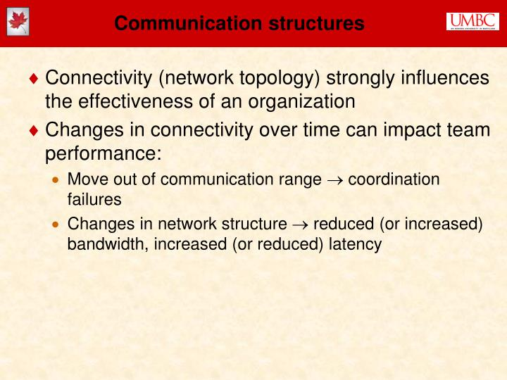 Communication structures