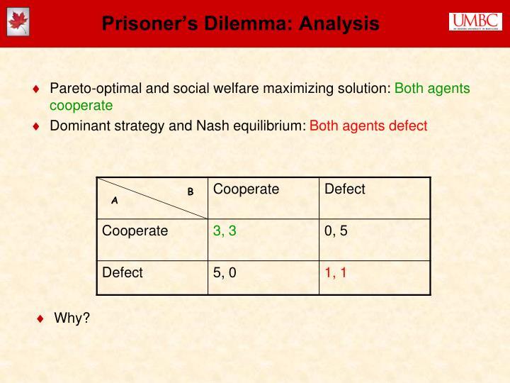 Prisoner's Dilemma: Analysis