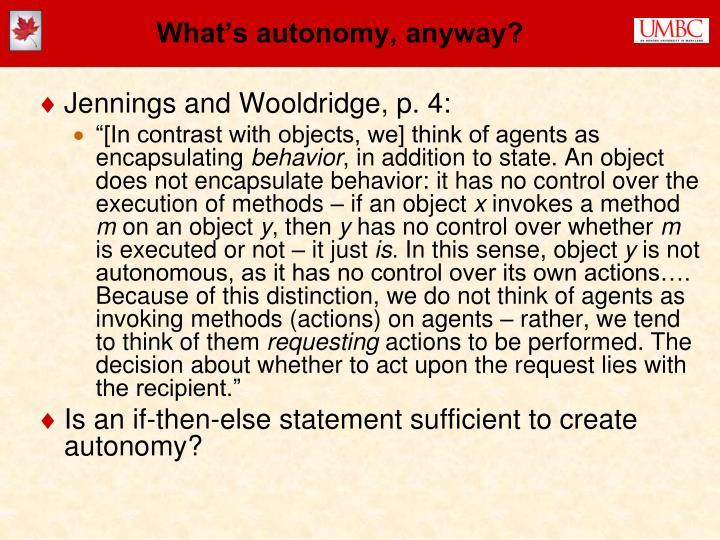 What's autonomy, anyway?