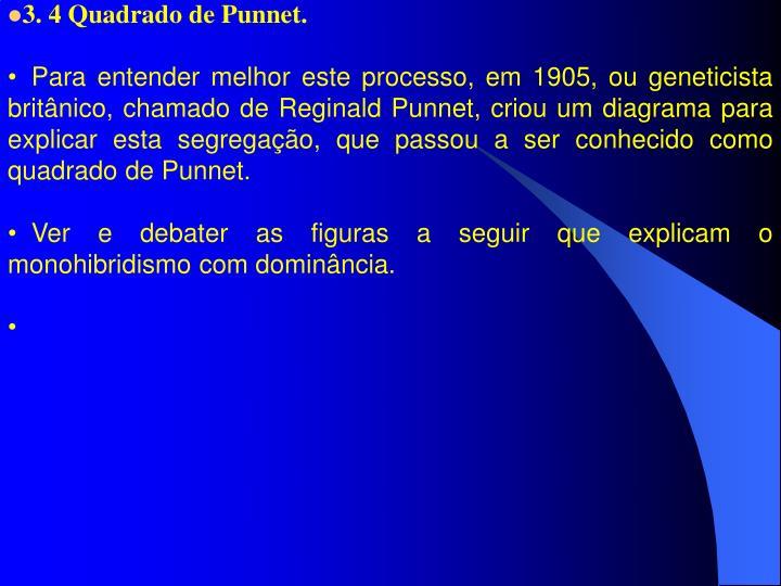 3. 4 Quadrado de Punnet.