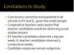 limitations to study