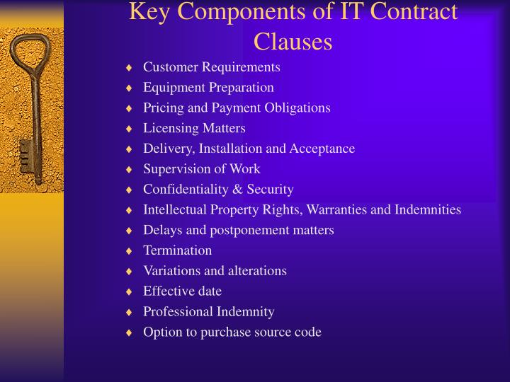 Key Components of IT Contract