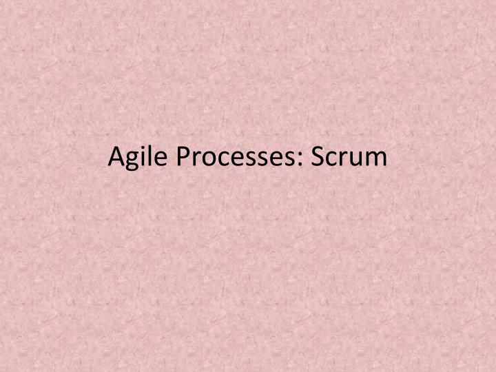 agile processes scrum n.