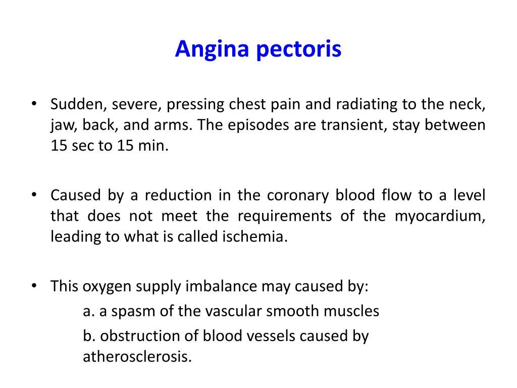 angina pectoris behandling