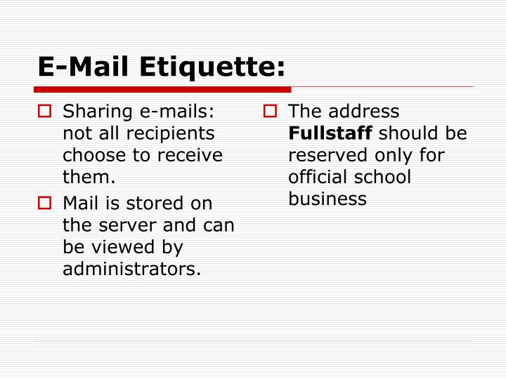 Sharing e-mails: not all recipients choose to receive them.