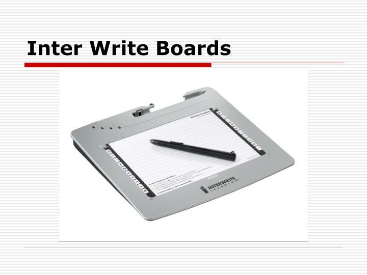 Inter Write Boards