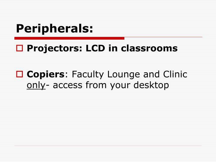 Peripherals: