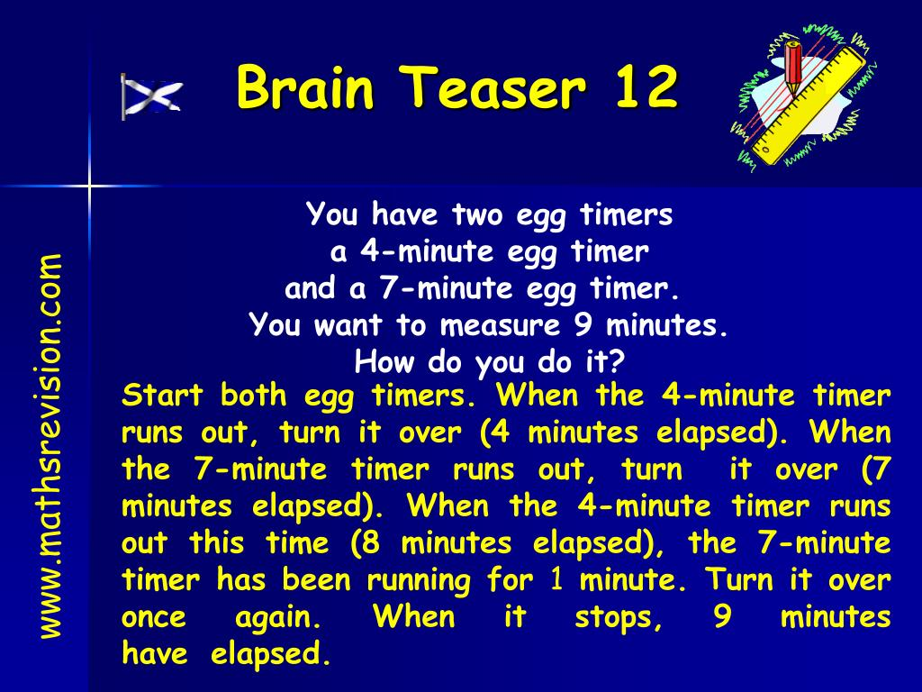 PPT - Brain Teaser 1 PowerPoint Presentation - ID:6205556