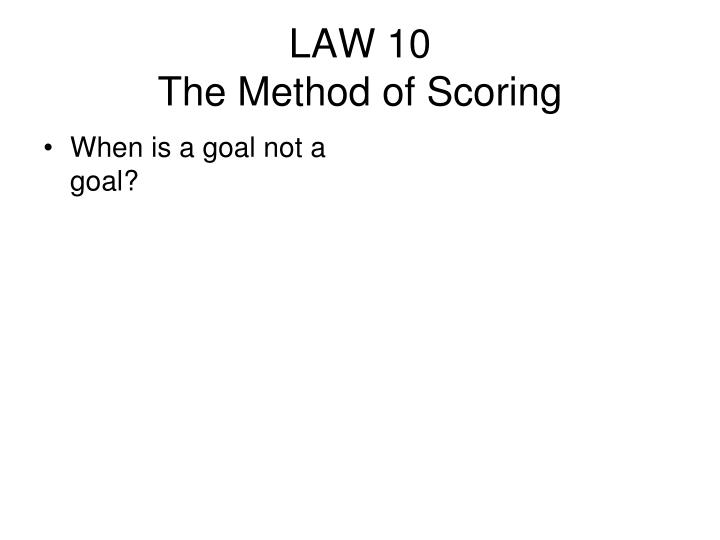 When is a goal not a goal?