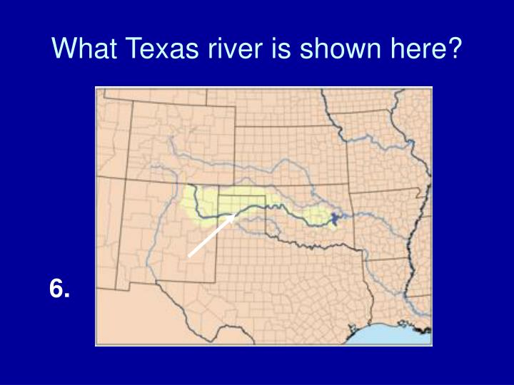 What Texas river is shown here?
