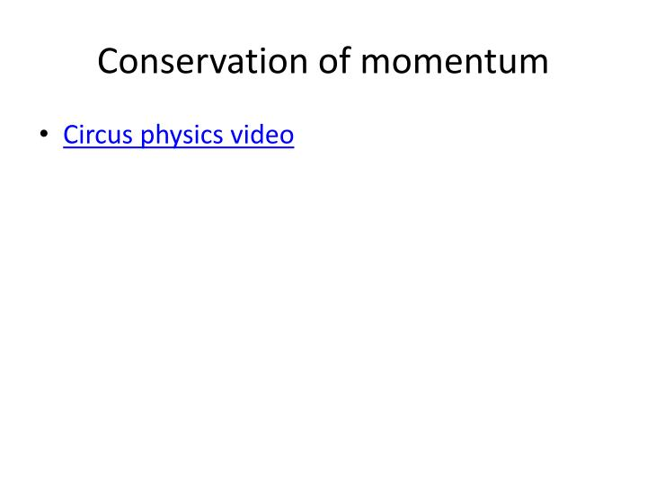conservation of momentum n.