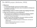 the metis project indovina 2003
