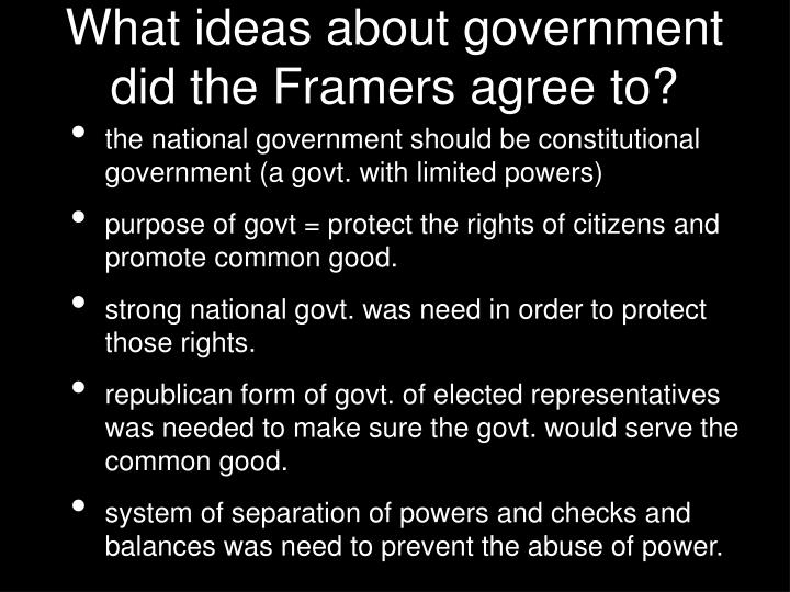 why the framers believed it was important to create a separation of powers The separation of powers these english outposts added religious freedom to their democratic systems, an important step towards the development of human rights.