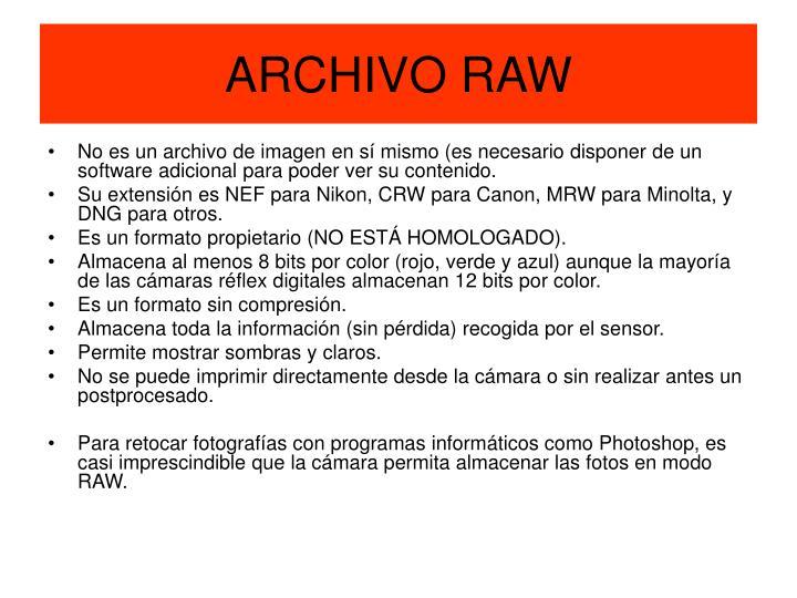 ARCHIVO RAW