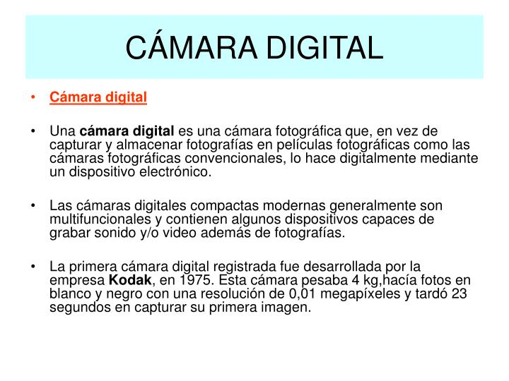 C mara digital