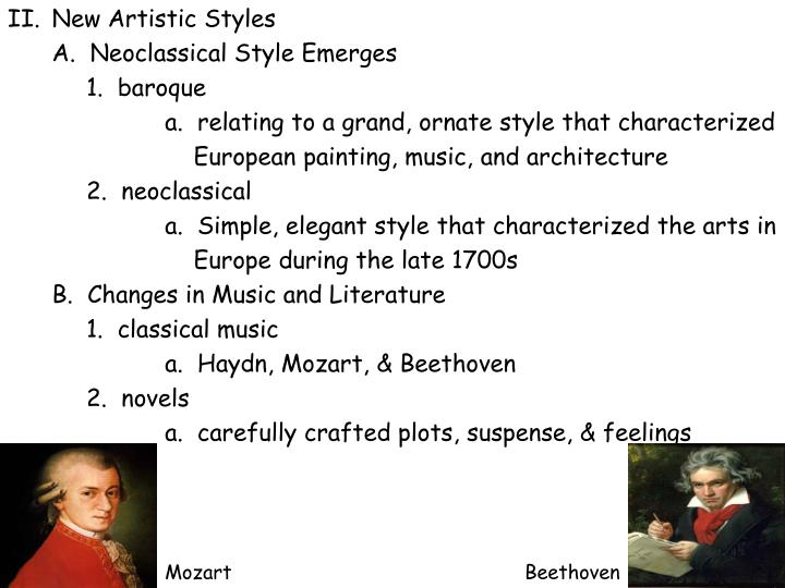 New Artistic Styles