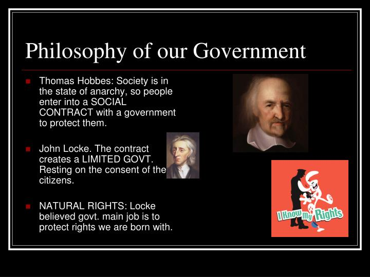Philosophy of our Government
