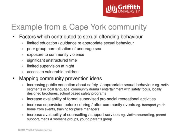 Example from a Cape York community