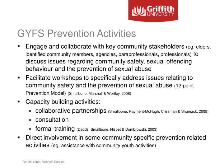 GYFS Prevention Activities