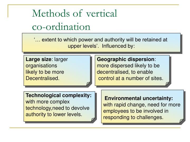 Methods of vertical