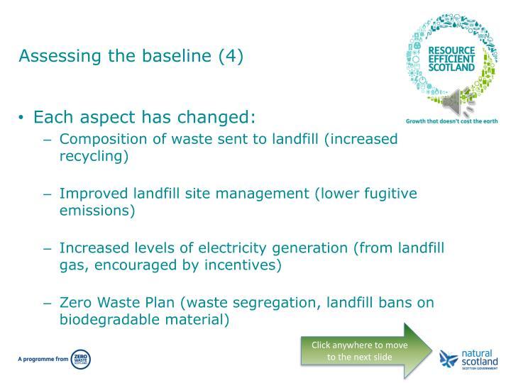 Assessing the baseline (4)