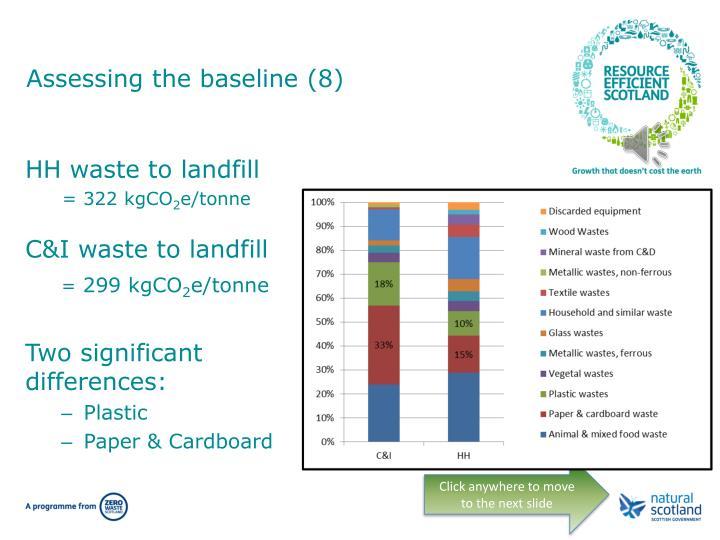 Assessing the baseline (8)
